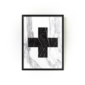 Marble Cross Wallart - Mikol - Treniq