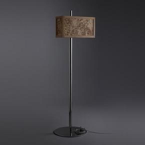 Nathan Millar Furniture-Poplar Burr Floor Standing Lamp-Treniq
