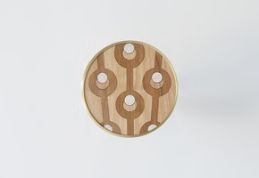Genesini Inlaid wooden Hooks II - Portego - Treniq