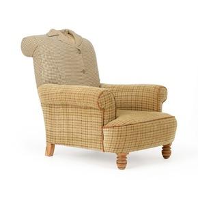 Tweed Overcoat Armchair - Rhubarb London - Treniq