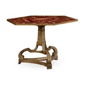 George II Faux Marble Top Center Table
