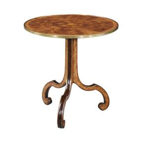 George II Style Round Scroll Leg Lamp Table