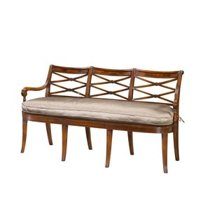 Regency Reeded Triple Chairback Settee