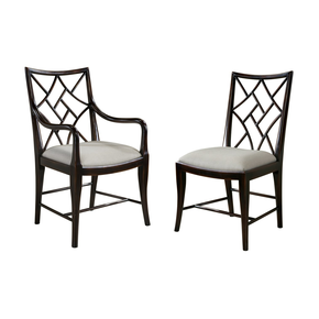 Set of Ebonized Chinoiserie Cockpen Dining Chairs