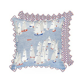 Regatta Cushion - The Elephant Stamp - Treniq