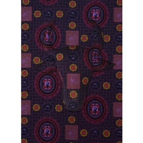 Purple Lasita Cotton Fabric - No Mad - Treniq