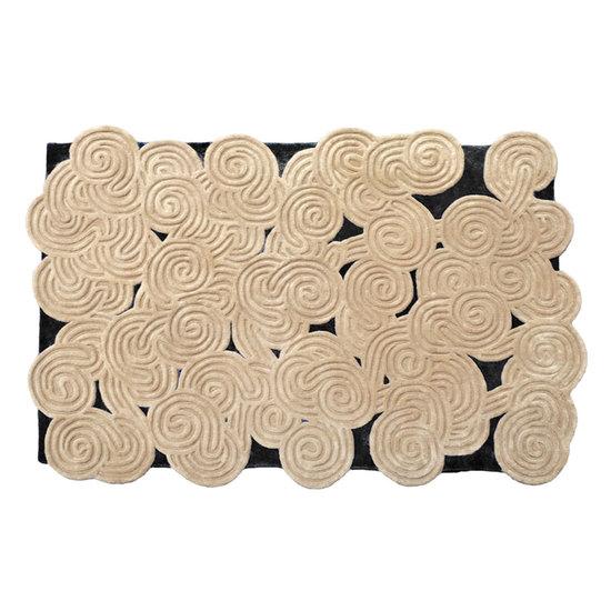 Sandrock rectangular rug karesansui
