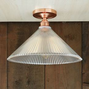 Hanoi Vintage Holophane Flush Ceiling Fitting