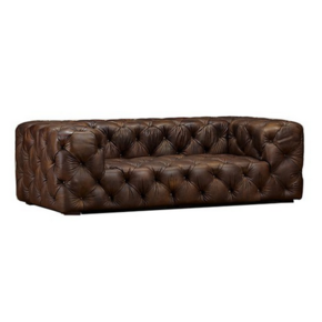 Dark Brown Chesterfield Sofa