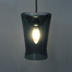 Waisted Pressed Pendant Lamp - One Foot Taller - Treniq