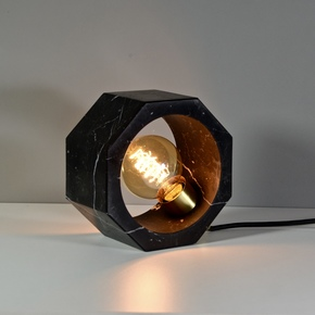 Octagon Table Lamp - Black