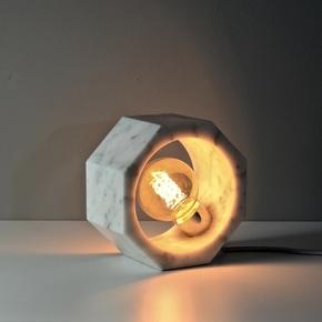 Octagnon Table Lamp - White