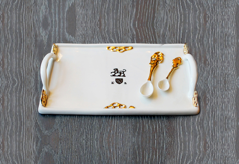 Heritage tray gold plated emma alington treniq 1