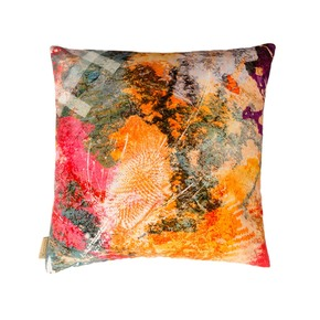 Fire Thistle Velvet Cushion - Mairi Helena - Treniq