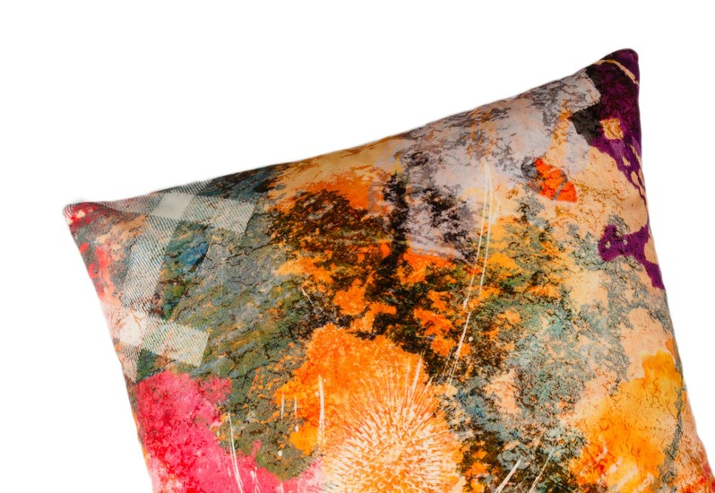 Fire thistle velvet cushion mairi helena treniq 2