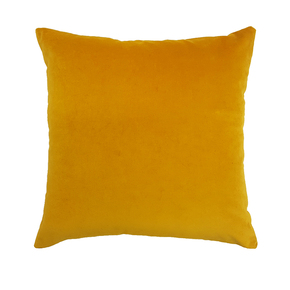 Zip Velvet Cushion Ochre