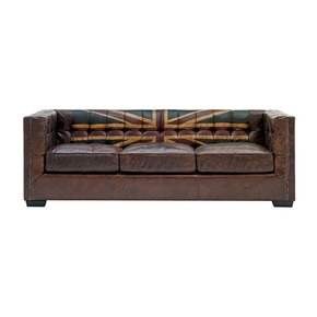 Leather Sofa Union Jack Print