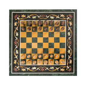 Chess Board Inlay Tabletop III - Carved Additions - Treniq