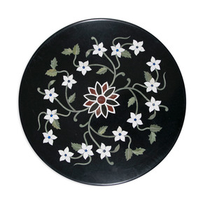 Floral Inlay Tabletop I - Carved Additions - Treniq