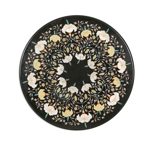 Floral Inlay Tabletop II - Carved Additions - Treniq