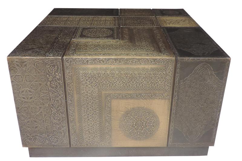 Sr coffee table 60x60 cm gold 1