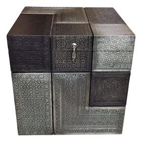 Moroccan Combo Box Silver