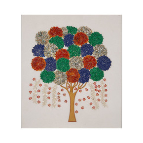 Flower Tree Wall Hanging - Carved Additions - Treniq