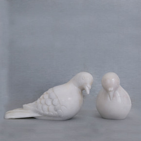 White Marble Doves-Carved Additions-Treniq