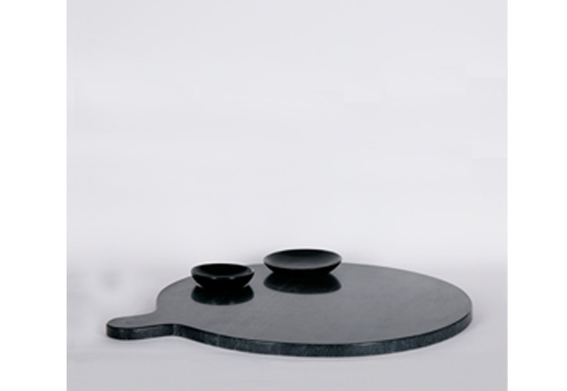 Black marble food platter carved additions treniq 1