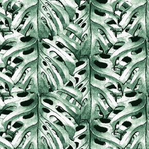 Tropical Monstera Plant Fabric