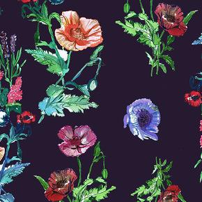 Hanging Wild Flowers Fabric