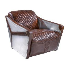 Leather And Metal Aviator Series Sofa