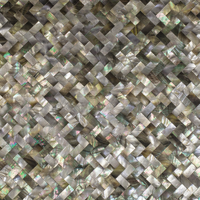 Black Mother of Pearl, Herringbone Pattern