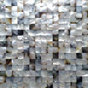 Black lip caviar seamless mother of pearl mosaics