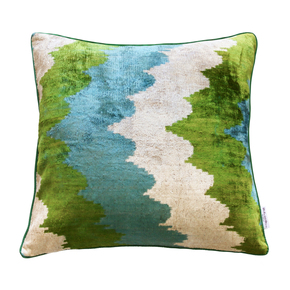 Ikat Cushion Snowdrop