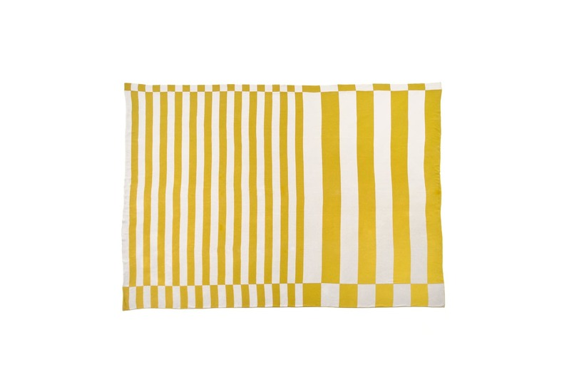 Gold silver stripes fabric licini roberta treniq 1