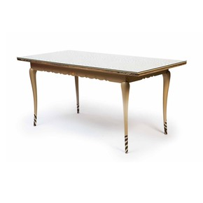 Metropolitan Safari Zebra Dining Table