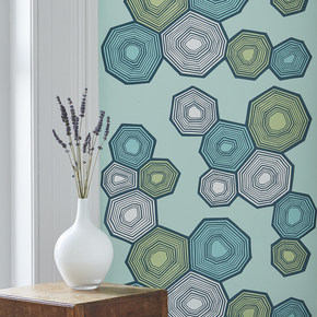 Polygon Geometric Hexagon Print Wallpaper