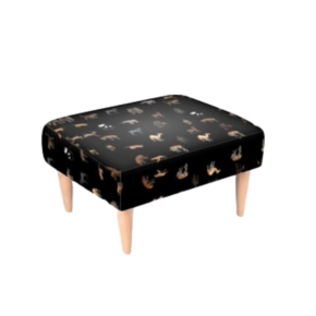 Footstool Animal Print