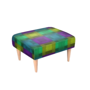 Footstool Multi Colour Print