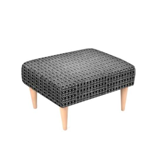 Knit print stool ..