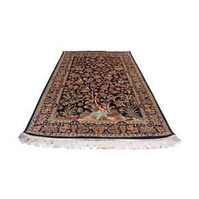 Kashmiri Handmade Hand Knotted Silk Carpet