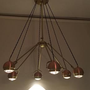 6 arm copper suspension light