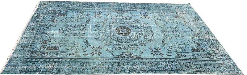 Blue overdyed rug istanbul carpet  treniq 1 1490615015844