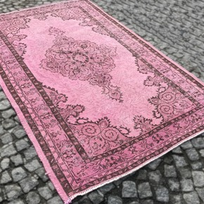 Pink-Over-Dyed-Handmade-Rug-_Istanbul-Carpet_Treniq_0