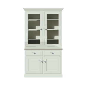 "The-Sussex-3ft-6""-Glazed-Dresser_The-Willow-Tree-Workshop_Treniq_0"