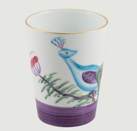 Limoges handpanted peacock   blossom goblet set 4 rachel bates interiors ltd treniq 1 1491403459609