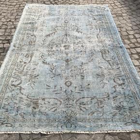 Aqua-Blue-Overdyed-Handmade-Rug_Istanbul-Carpet_Treniq_0