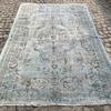 Aqua blue overdyed handmade rug istanbul carpet treniq 1 1491567825917