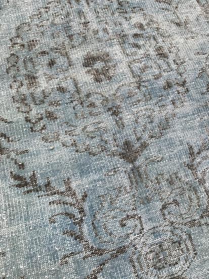 Aqua blue overdyed handmade rug istanbul carpet treniq 1 1491567825920